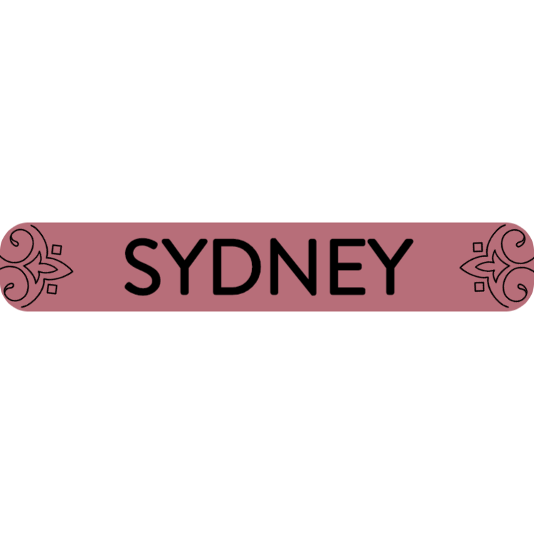 Sydney - rose gold sign