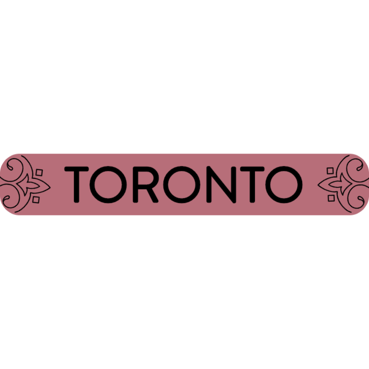 Toronto - rose gold sign