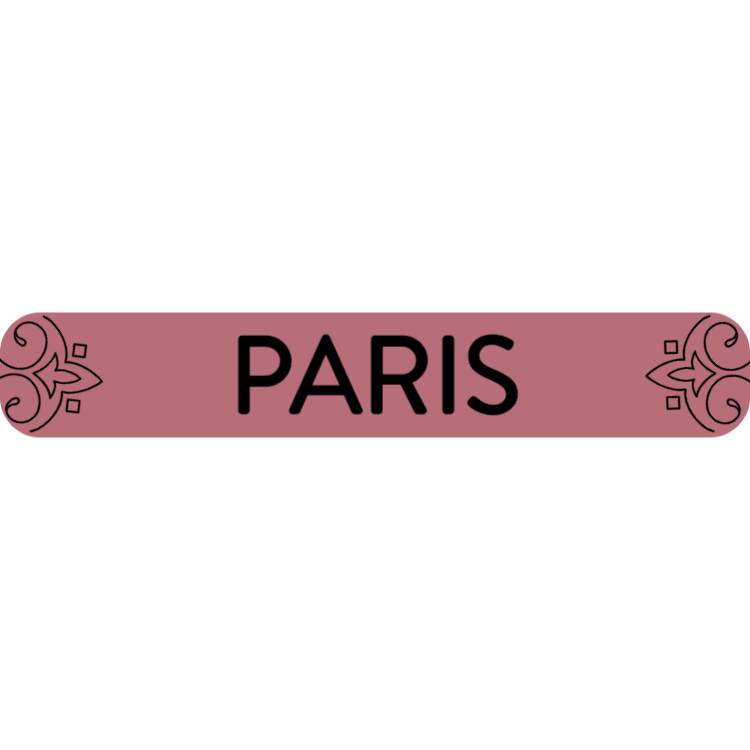 Paris - rose gold sign