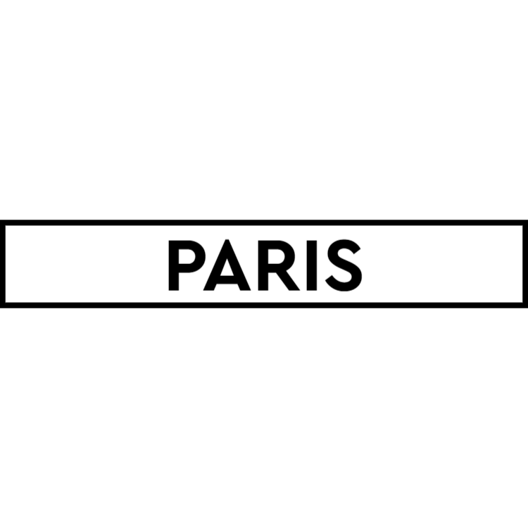 Paris - white sign