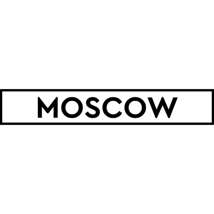 Moscow - white sign