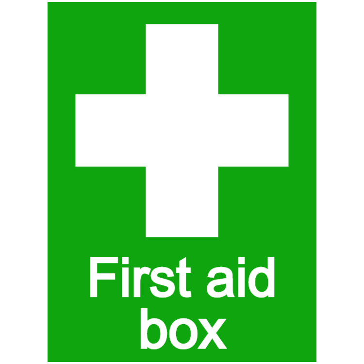 First aid box - portrait sticker