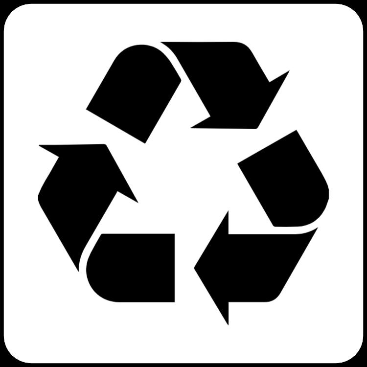 Schwarz-Weiß-Recycling-Aufkleber