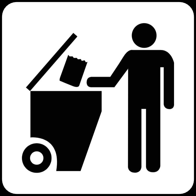 Schwarz-Weiß-Abfall-Aufkleber