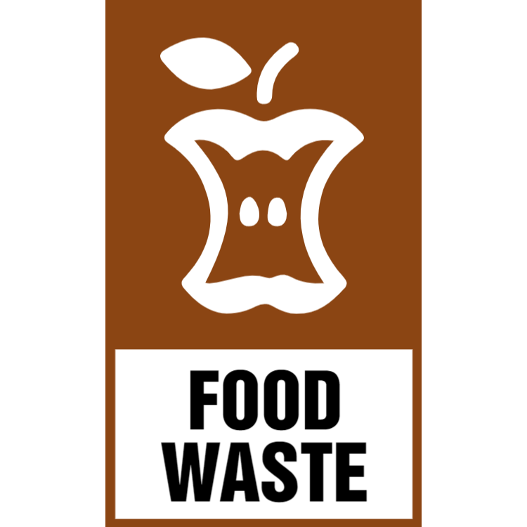 Brown food waste sticker