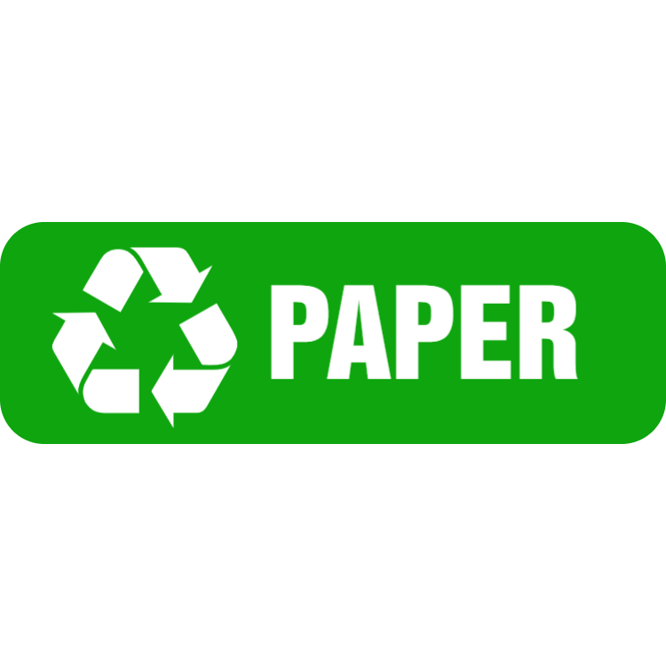 Green paper landscape sticker