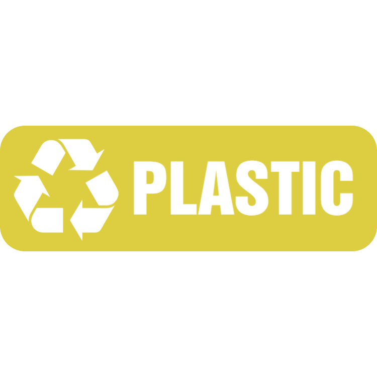 Yellow plastic landscape sticker