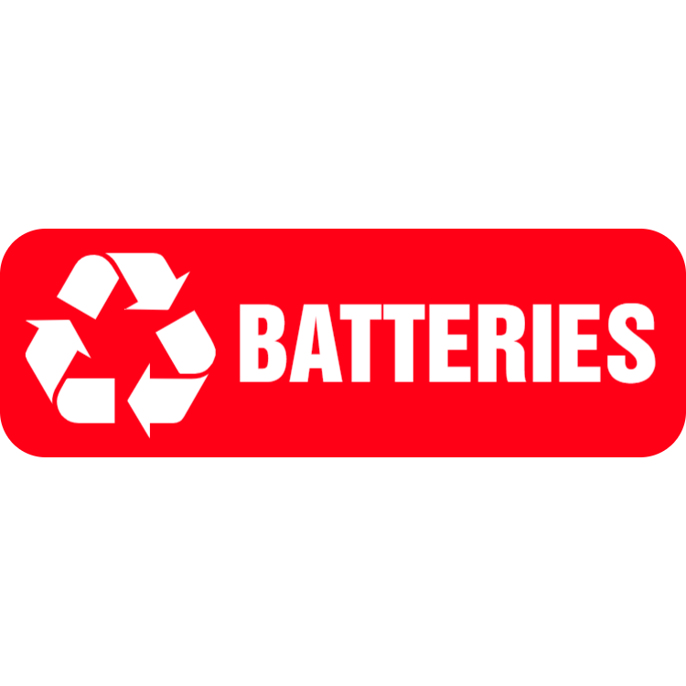 Red batteries landscape sticker