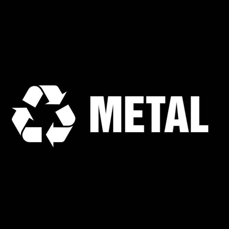 Black metal landscape sticker