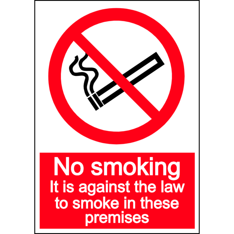 No smoking in these premises - portrait sign