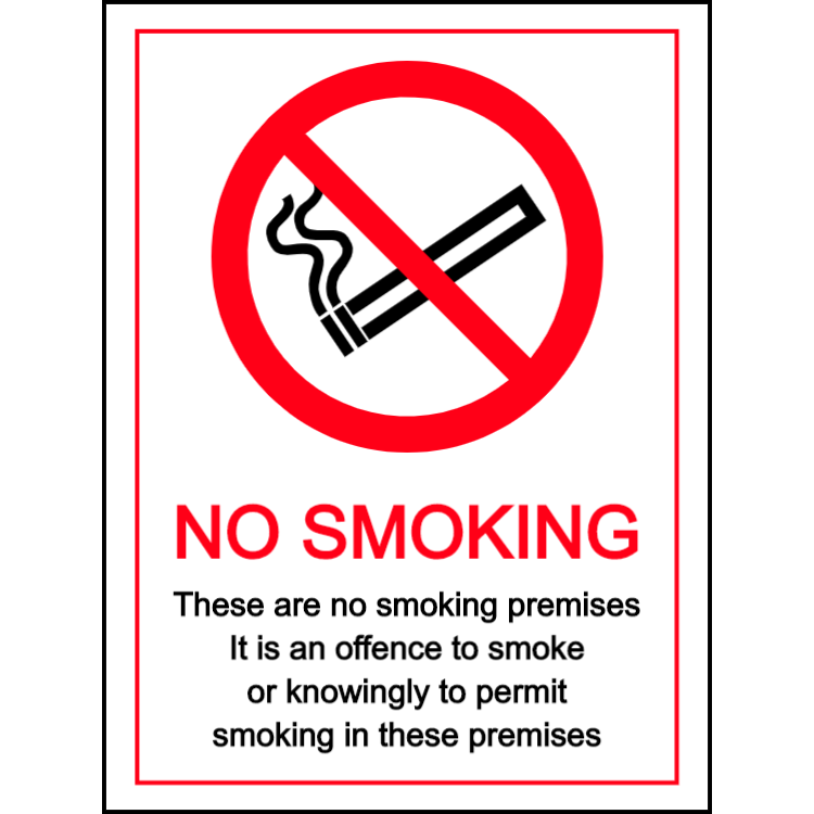 No smoking - these are smoking premises - portrait sign