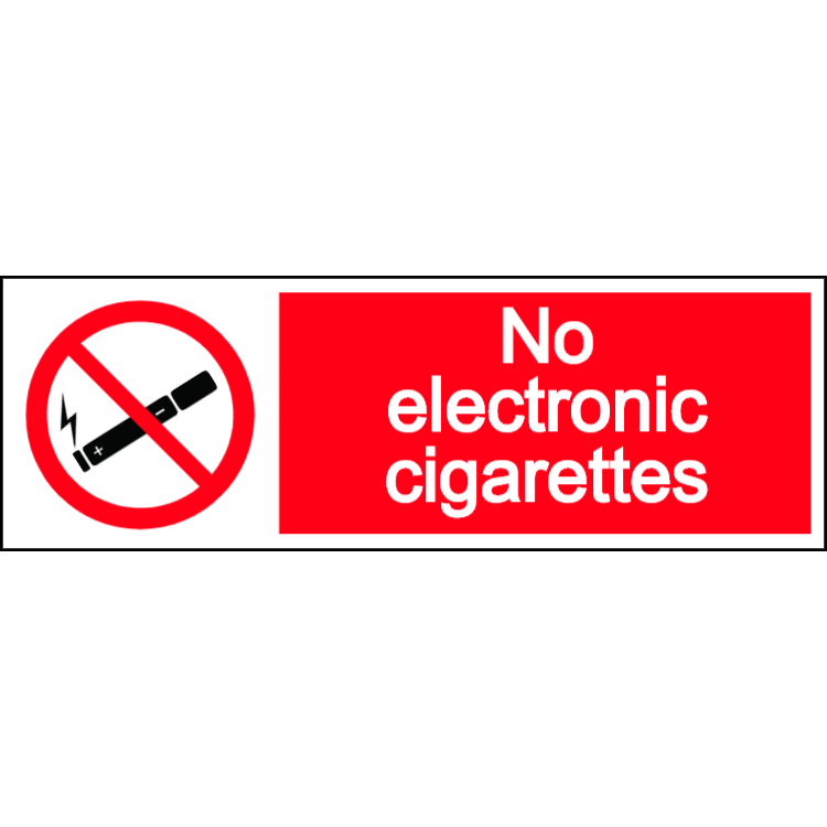No electronic cigarettes - landscape sign