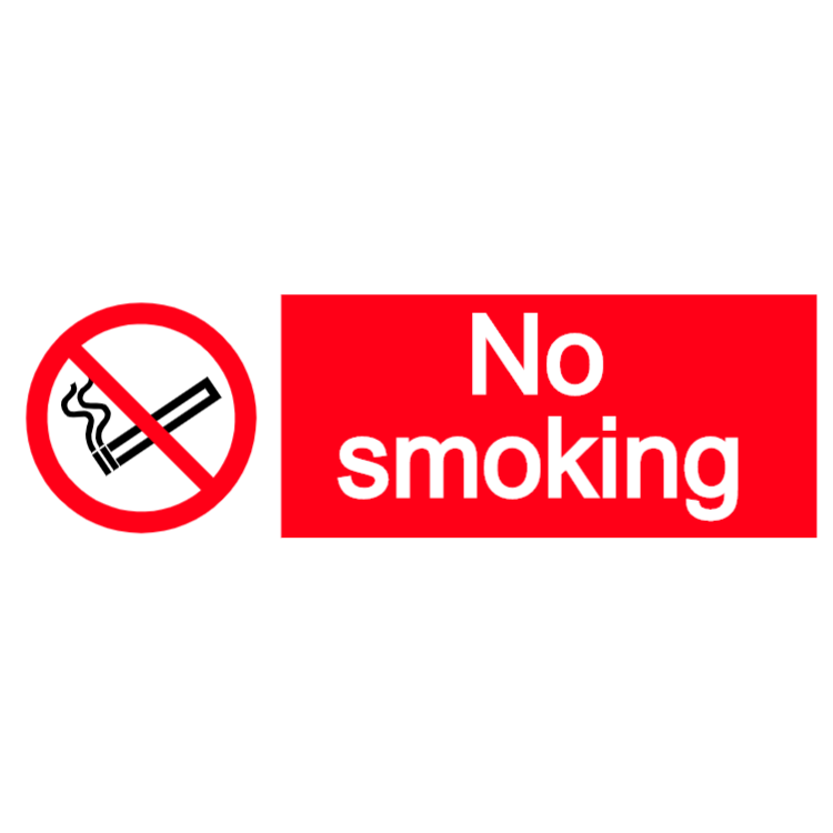 No smoking - landscape sticker