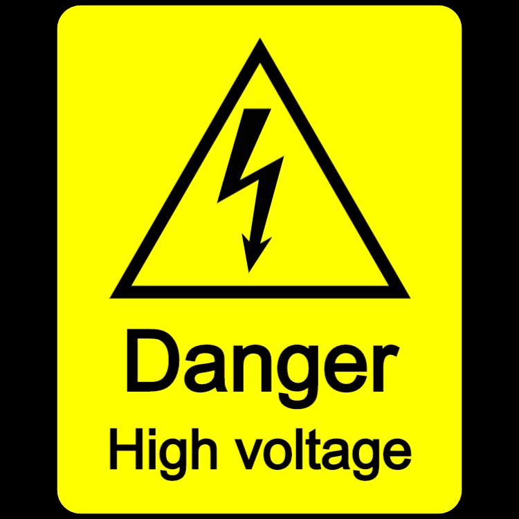 Danger - high voltage sticker