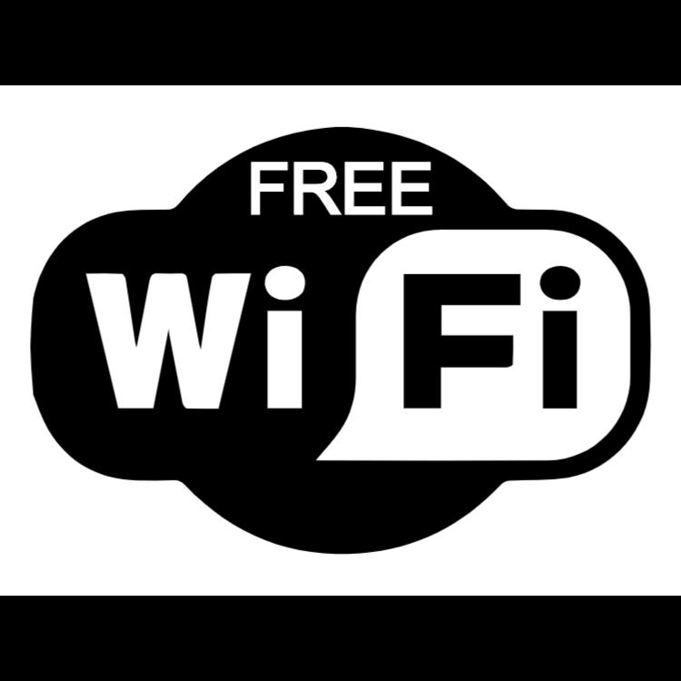 Gratis wifi dekal