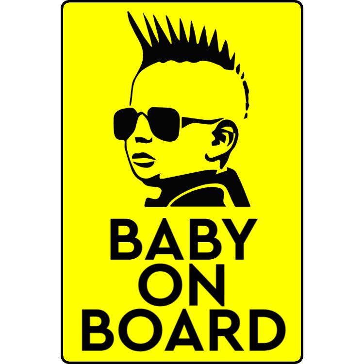 Rock baby on board sticker