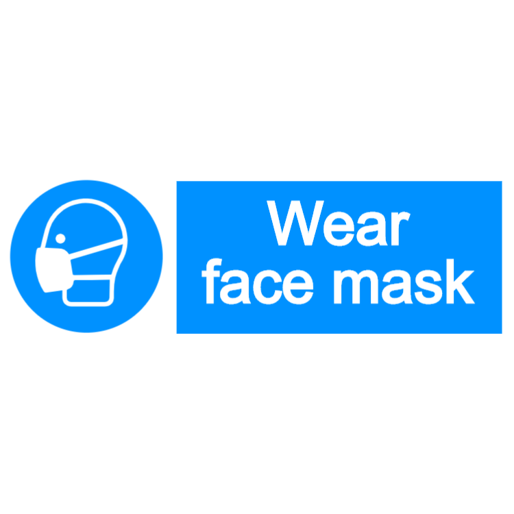 Wear face mask - landscape sign
