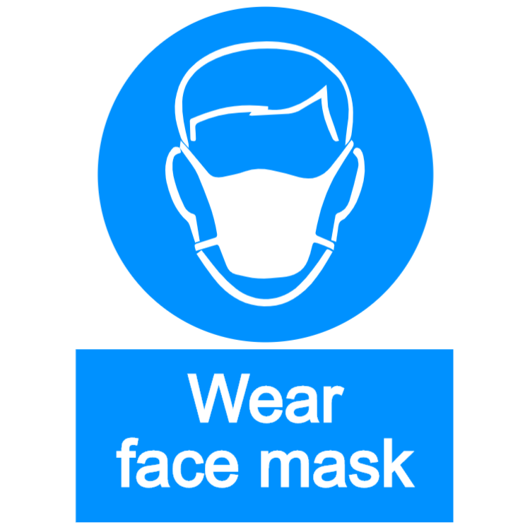Wear face mask 1 - portrait sign