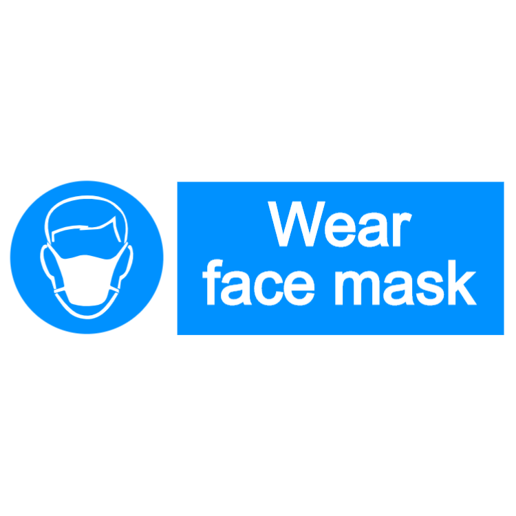 Wear face mask 1 - landscape sign