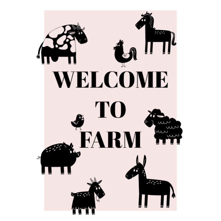 Welcome to farm sign