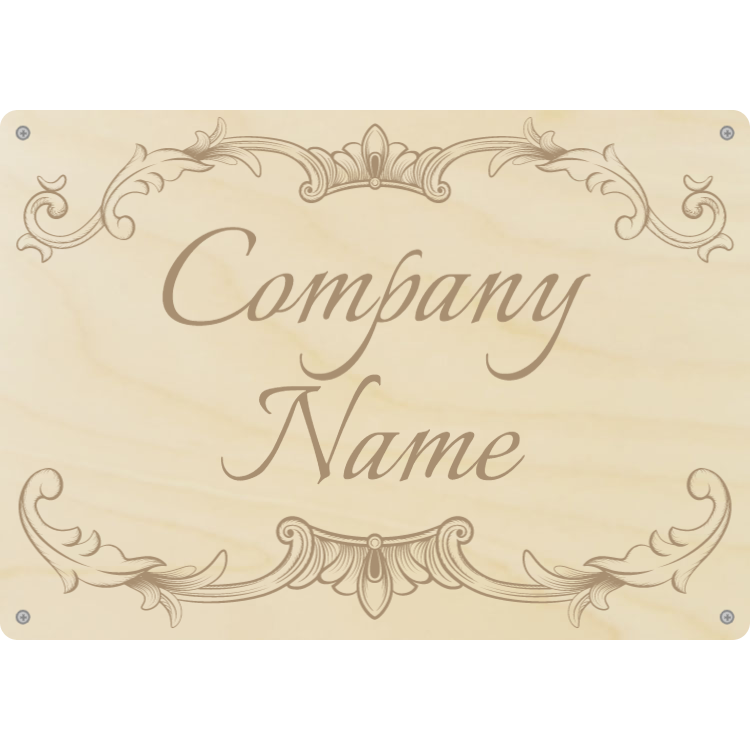 Custom wooden company sign