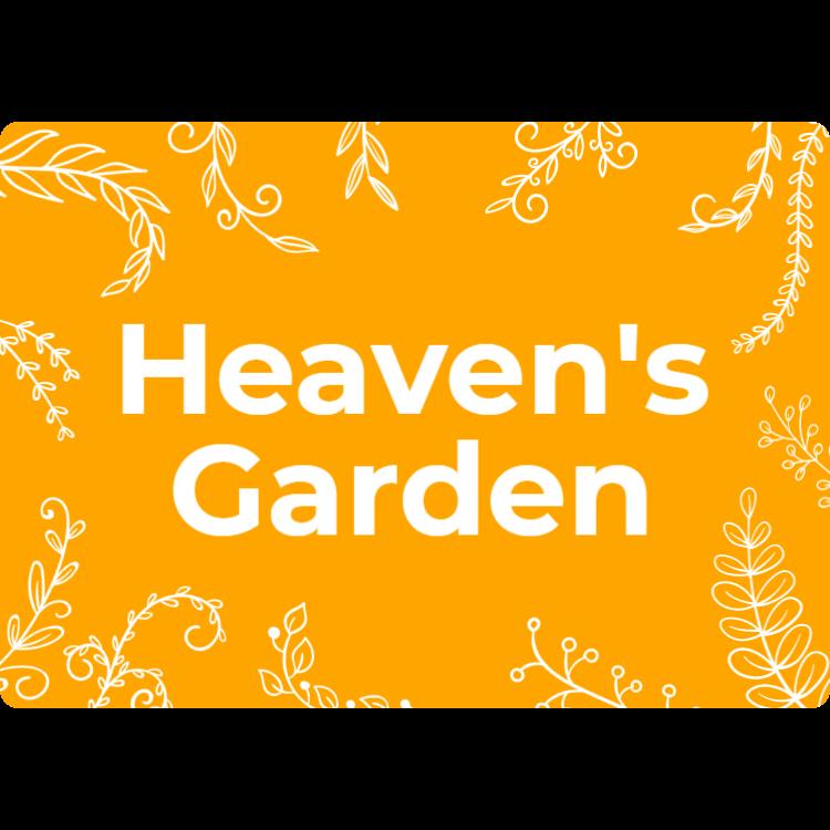 Sky trädgård sign