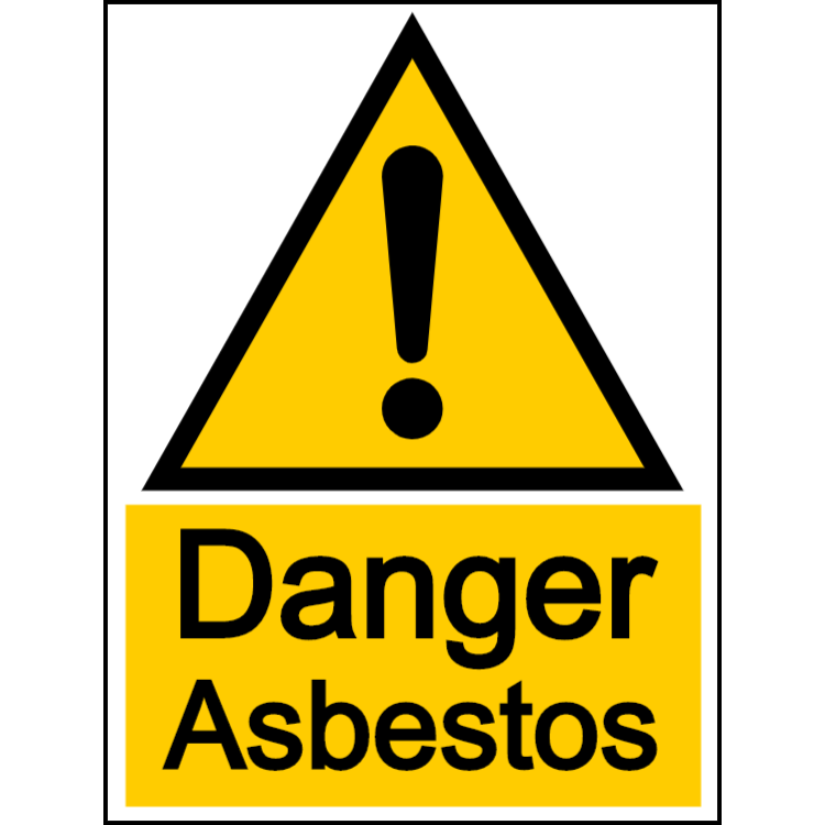 Danger asbestos - portrait sign
