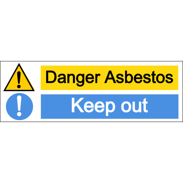 Danger asbestos/keep out - landscape sign