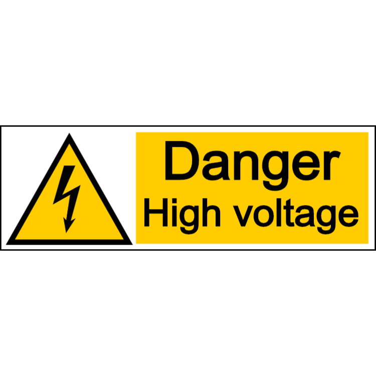 Danger high voltage - landscape sign