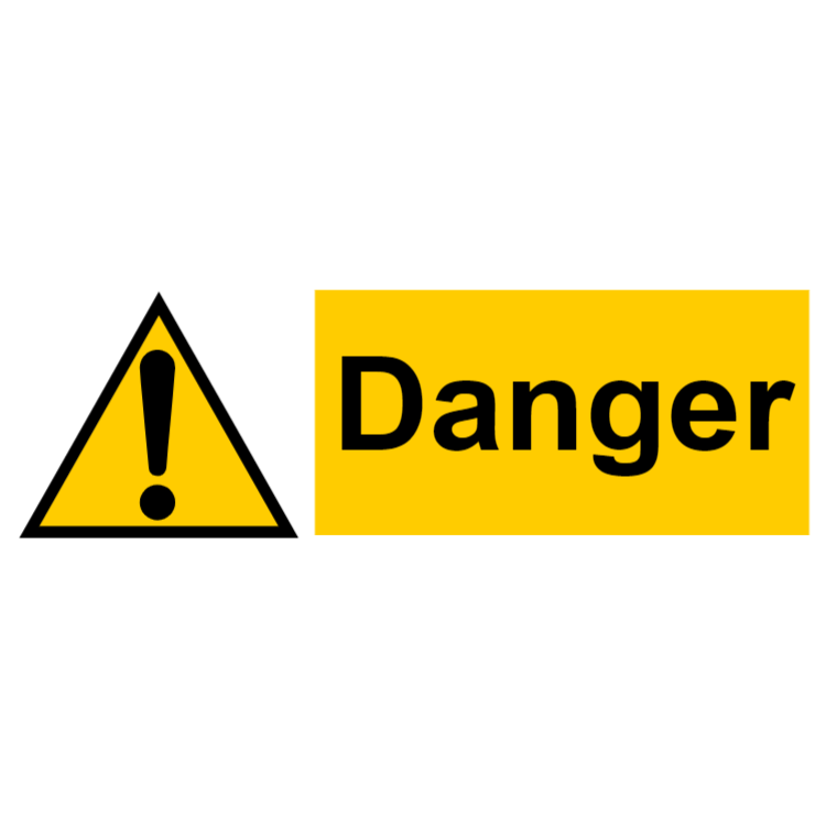 Danger - landscape sign