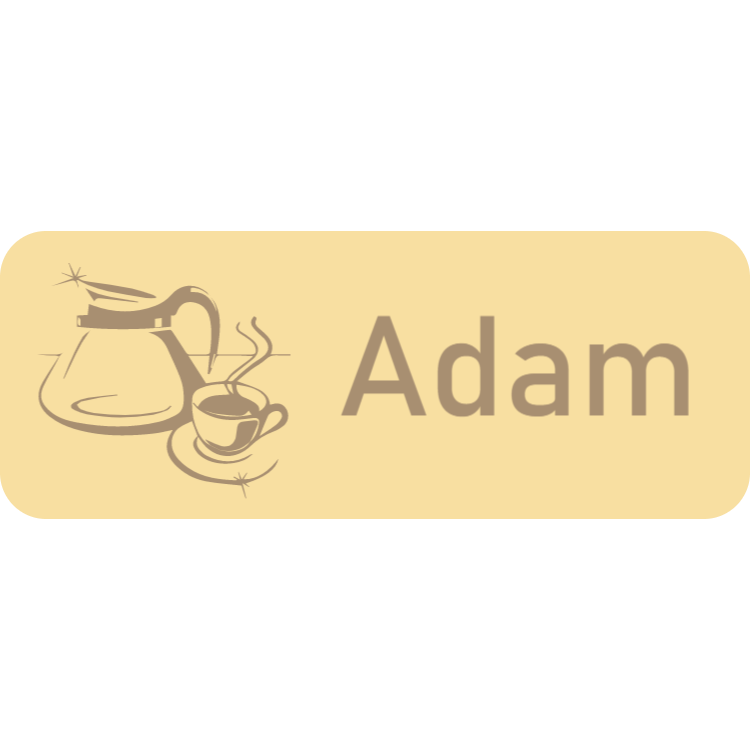Wooden name tag 9