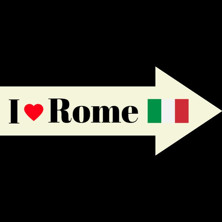 I love Rome sign - sticker