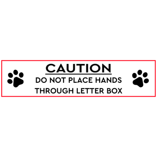 Caution - dog at the mailbox