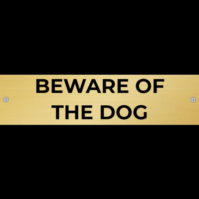 Be careful - dog inside