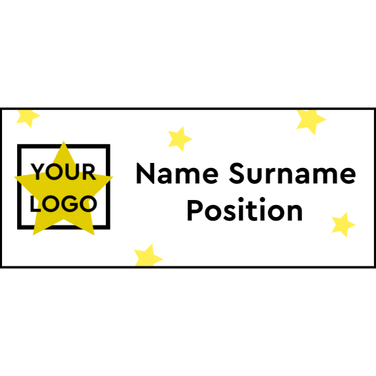 Name tag with stars