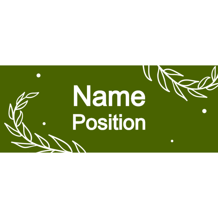 Sage green name tag