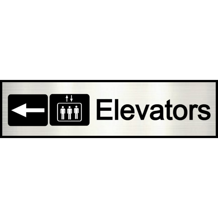 Aluminium elevators sign