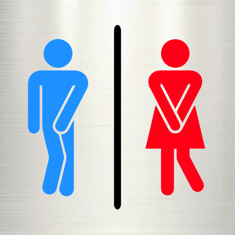 Aluminium toilet sign
