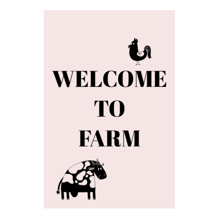 Welcome to farm sign - Aluminium composite panel