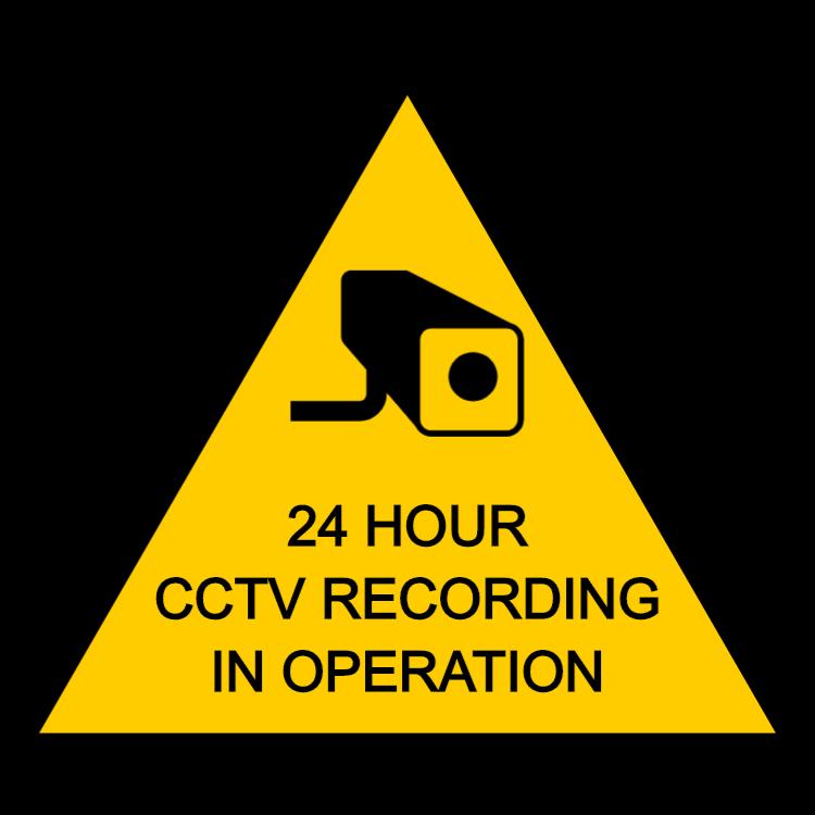 CCTV sign 24 hours recording - Aluminium composite panel