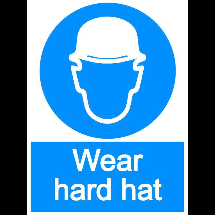 Wear hard hat - Aluminium composite panel