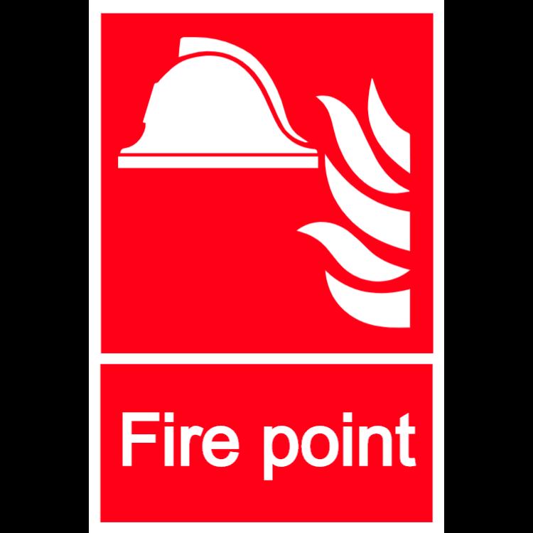 Fire point sign - Aluminium composite panel