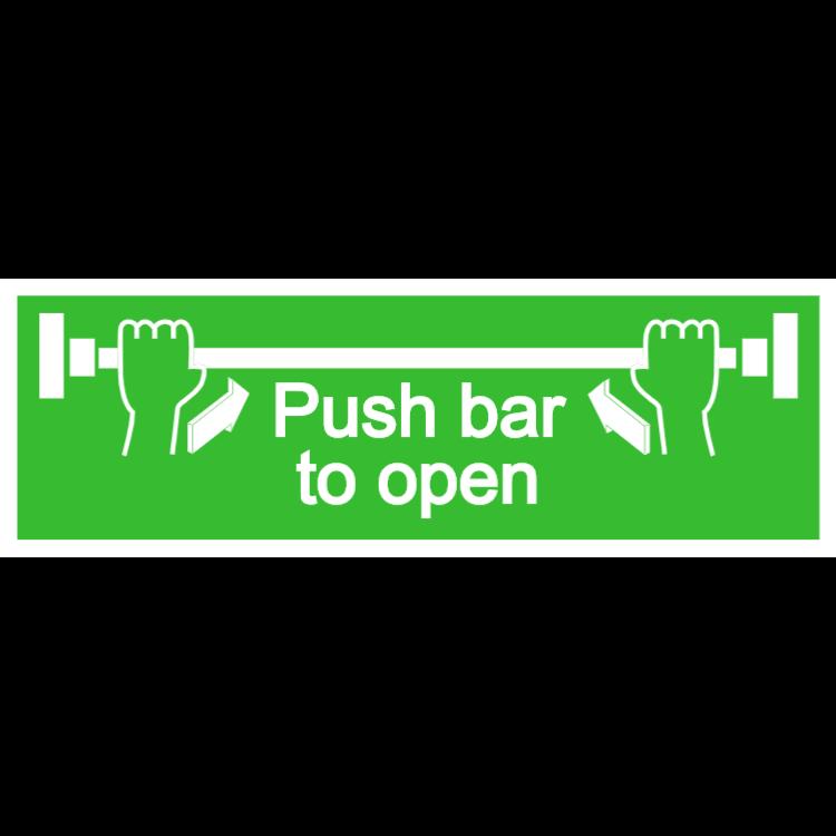 Push bar to open - Aluminium composite panel