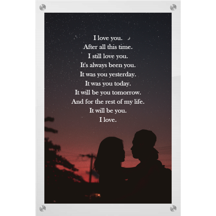 Couple photo with love quote