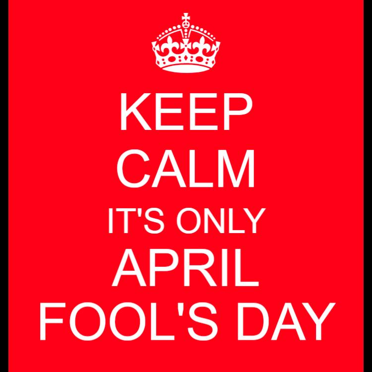 Keep calm - April Fool's Day