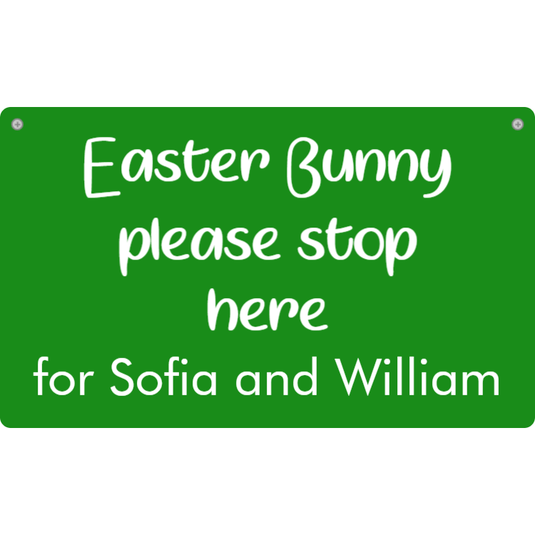 Easter Bunny, please stop here for name