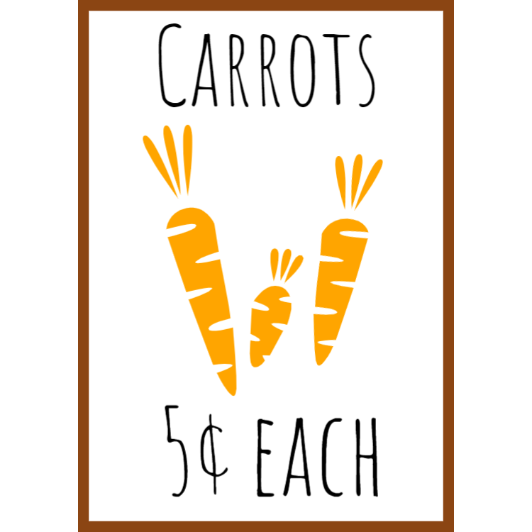 Carrots for sale