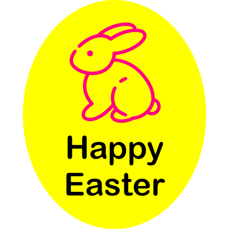 Happy Easter - sticker