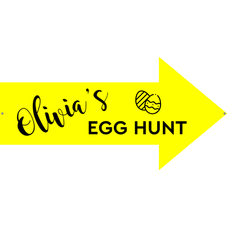 Egg hunt - Yellow sign