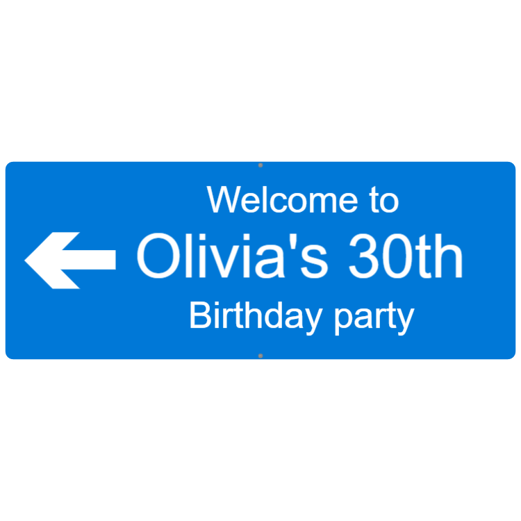 Welcome to birthday party - Engraved sign